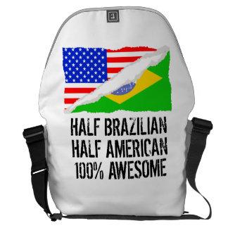Half Brazilian Half American Awesome Courier Bag
