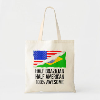 Half Brazilian Half American Awesome Tote Bag