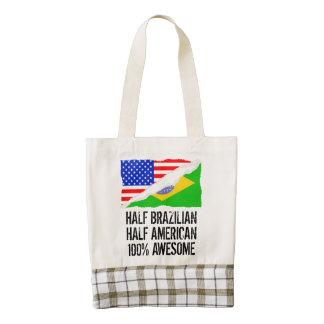 Half Brazilian Half American Awesome Zazzle HEART Tote Bag