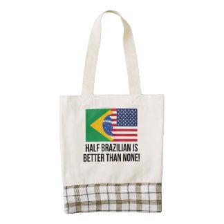Half Brazilian Is Better Than None Zazzle HEART Tote Bag