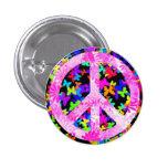 Half-breed Signature Peace Pinback Button