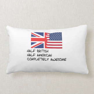 Half British Completely Awesome Pillow