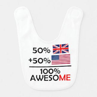 Half British Half American Baby Bib