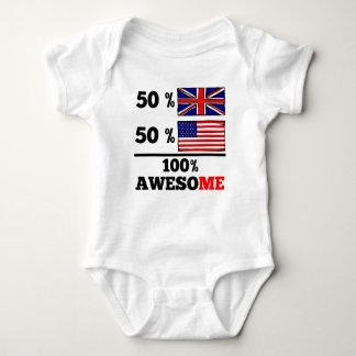 Half British Half American Infant Creeper