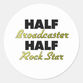Half Broadcaster Half Rock Star Stickers