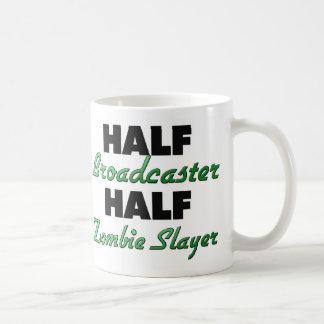 Half Broadcaster Half Zombie Slayer Coffee Mug