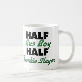 Half Bus Boy Half Zombie Slayer Classic White Coffee Mug