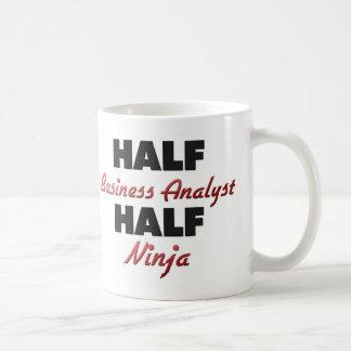 Half Business Analyst Half Ninja Coffee Mug