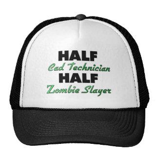 Half Cad Technician Half Zombie Slayer Trucker Hat