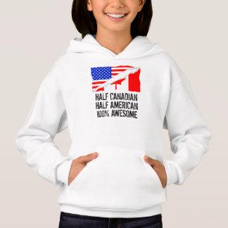 Half Canadian Half American Awesome Hoodie