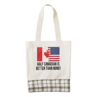 Half Canadian Is Better Than None Zazzle HEART Tote Bag