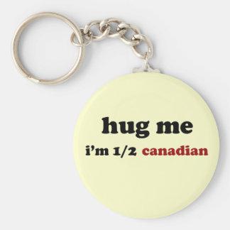 Half Canadian Keychain