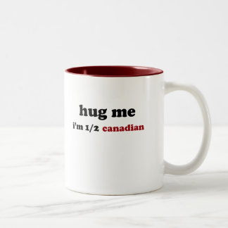 Half Canadian Two-Tone Coffee Mug