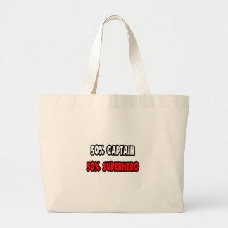 Half Captain ... Half Superhero Jumbo Tote Bag