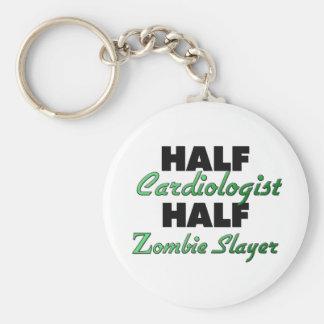Half Cardiologist Half Zombie Slayer Basic Round Button Keychain