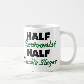 Half Cartoonist Half Zombie Slayer Classic White Coffee Mug