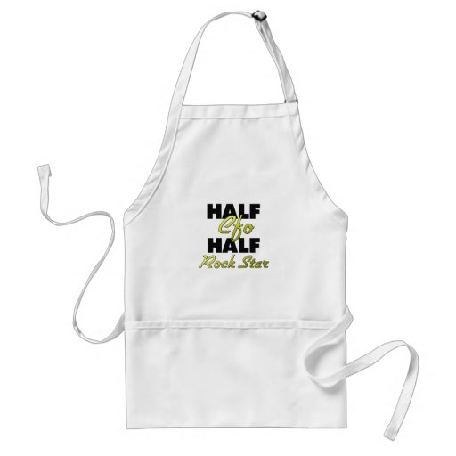 Half Cfo Half Rock Star Adult Apron