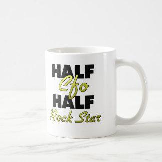 Half Cfo Half Rock Star Classic White Coffee Mug