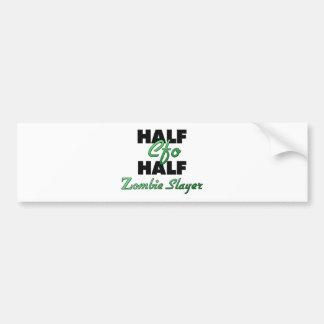 Half Cfo Half Zombie Slayer Car Bumper Sticker