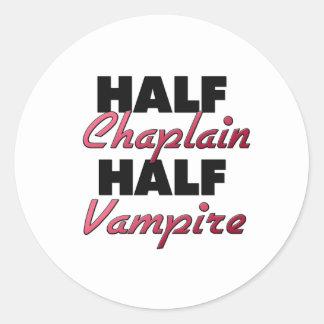 Half Chaplain Half Vampire Stickers
