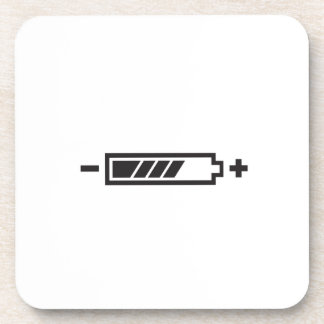 HALF CHARGE BATTERY DRINK COASTER