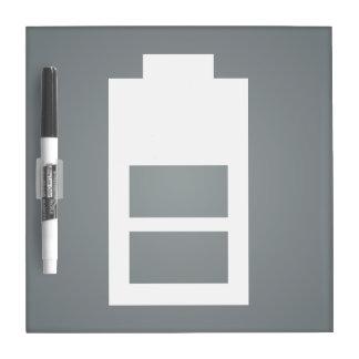 Half Charges Minimal Dry-Erase Whiteboard