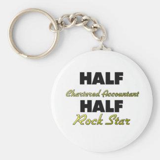 Half Chartered Accountant Half Rock Star Keychain