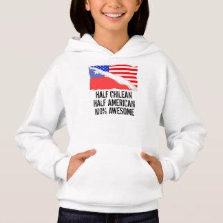 Half Chilean Half American Awesome Hoodie