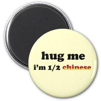 Half Chinese 2 Inch Round Magnet