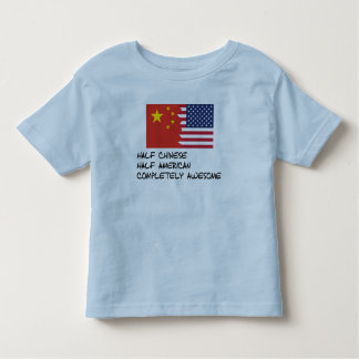 Half Chinese Completely Awesome Toddler T-shirt
