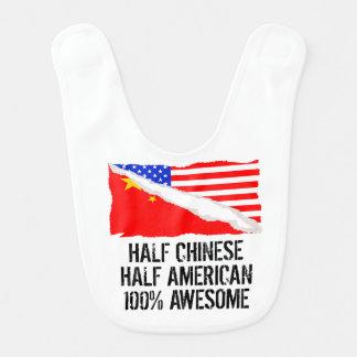 Half Chinese Half American Awesome Bib