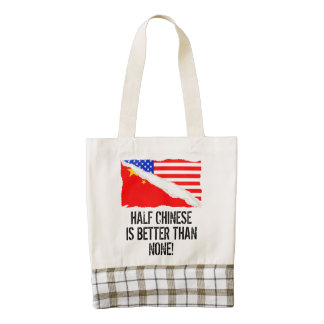 Half Chinese Is Better Than None Zazzle HEART Tote Bag