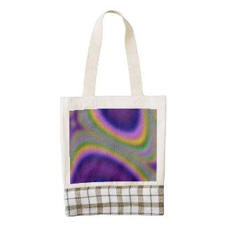 half circle line pattern zazzle HEART tote bag