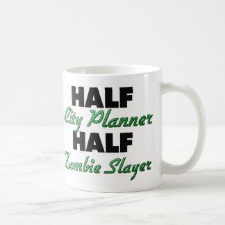 Half City Planner Half Zombie Slayer Classic White Coffee Mug