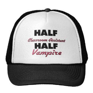 Half Classroom Assistant Half Vampire Trucker Hat