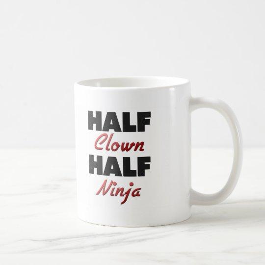 Half Clown Half Ninja Coffee Mug