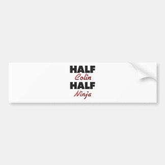 Half Colin Half Ninja Bumper Sticker