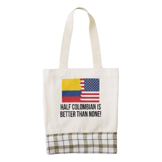 Half Colombian Is Better Than None Zazzle HEART Tote Bag