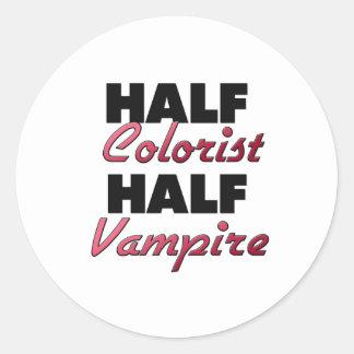 Half Colorist Half Vampire Classic Round Sticker