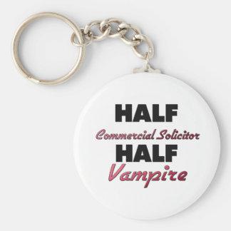 Half Commercial Solicitor Half Vampire Basic Round Button Keychain