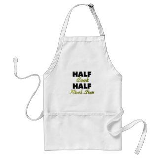 Half Cook Half Rock Star Adult Apron