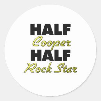 Half Cooper Half Rock Star Round Sticker