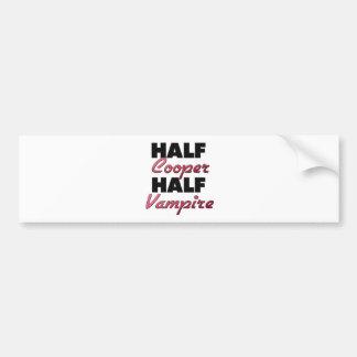 Half Cooper Half Vampire Bumper Sticker