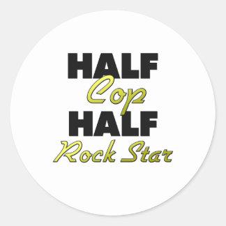 Half Cop Half Rock Star Stickers