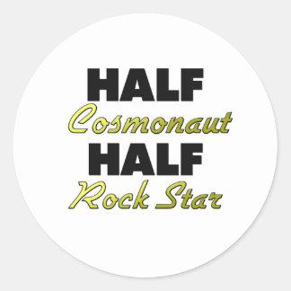 Half Cosmonaut Half Rock Star Round Stickers