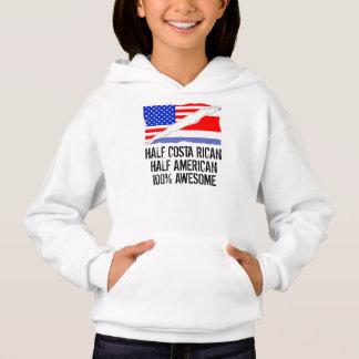 Half Costa Rican Half American Awesome Hoodie