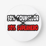 Half Counselor ... Half Superhero Wall Clocks