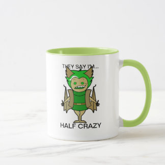 HALF CRAZY mug