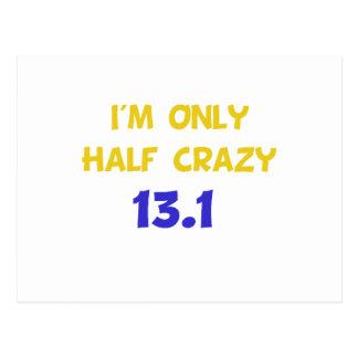 Half Crazy Postcard