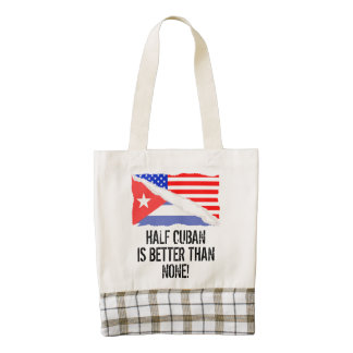 Half Cuban Is Better Than None Zazzle HEART Tote Bag